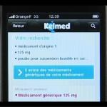 iPhone Kelmed : un moteur de recherche des médicaments génériques