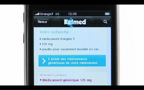 Nouvelle application iPhone Kelmed : le moteur de recherche des médicaments génériques
