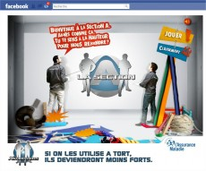 Application facebook de l'assurance maladie
