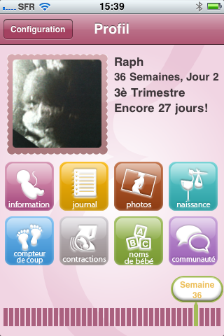 baby bump application iphone de suivi de grossesse. Black Bedroom Furniture Sets. Home Design Ideas