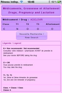Drugs in Pregnancy - Médicaments et Grossesse - iPhone - iPad
