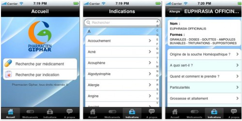 homeo-fiches pour iPhone et iPad